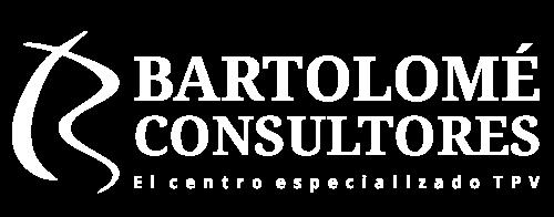 Logotipo blanco Bartolomé Consultores TPV, sistemas de gestión, cajas registradoras Fuengirola Málaga